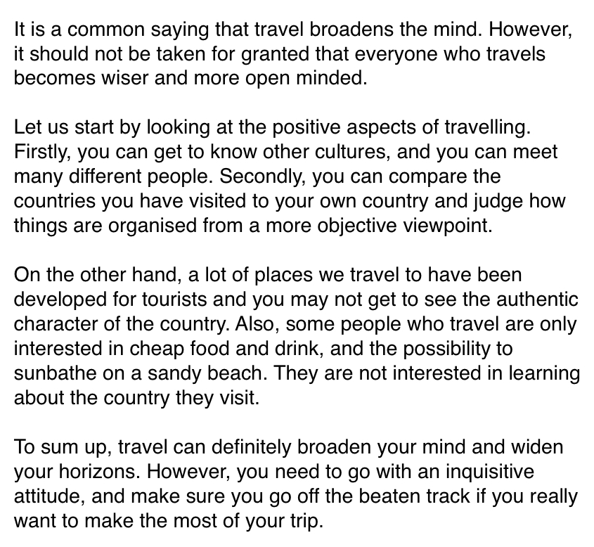Airline Travel Essays